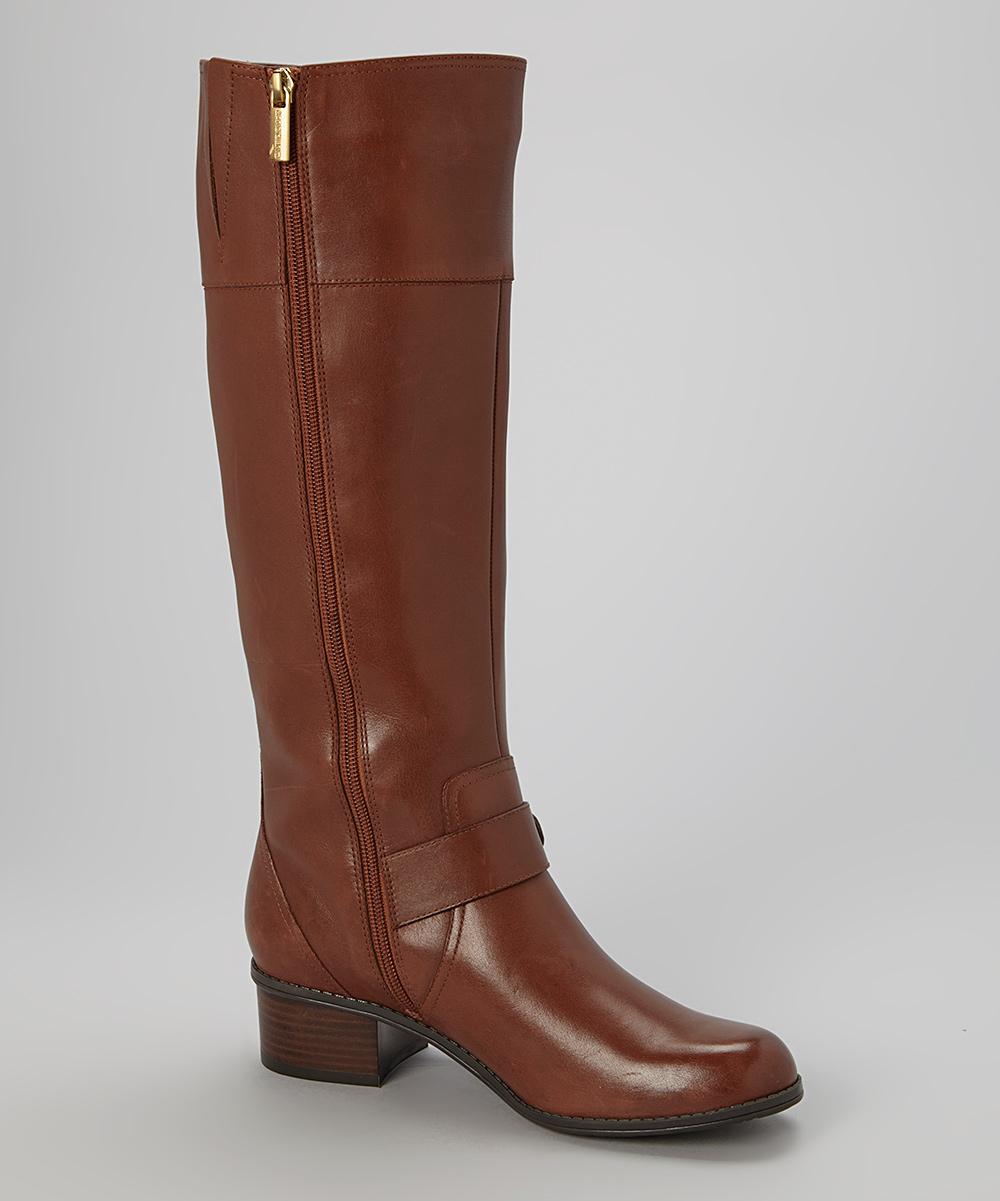 bandolino brown cranne wide calf leather boot zulily