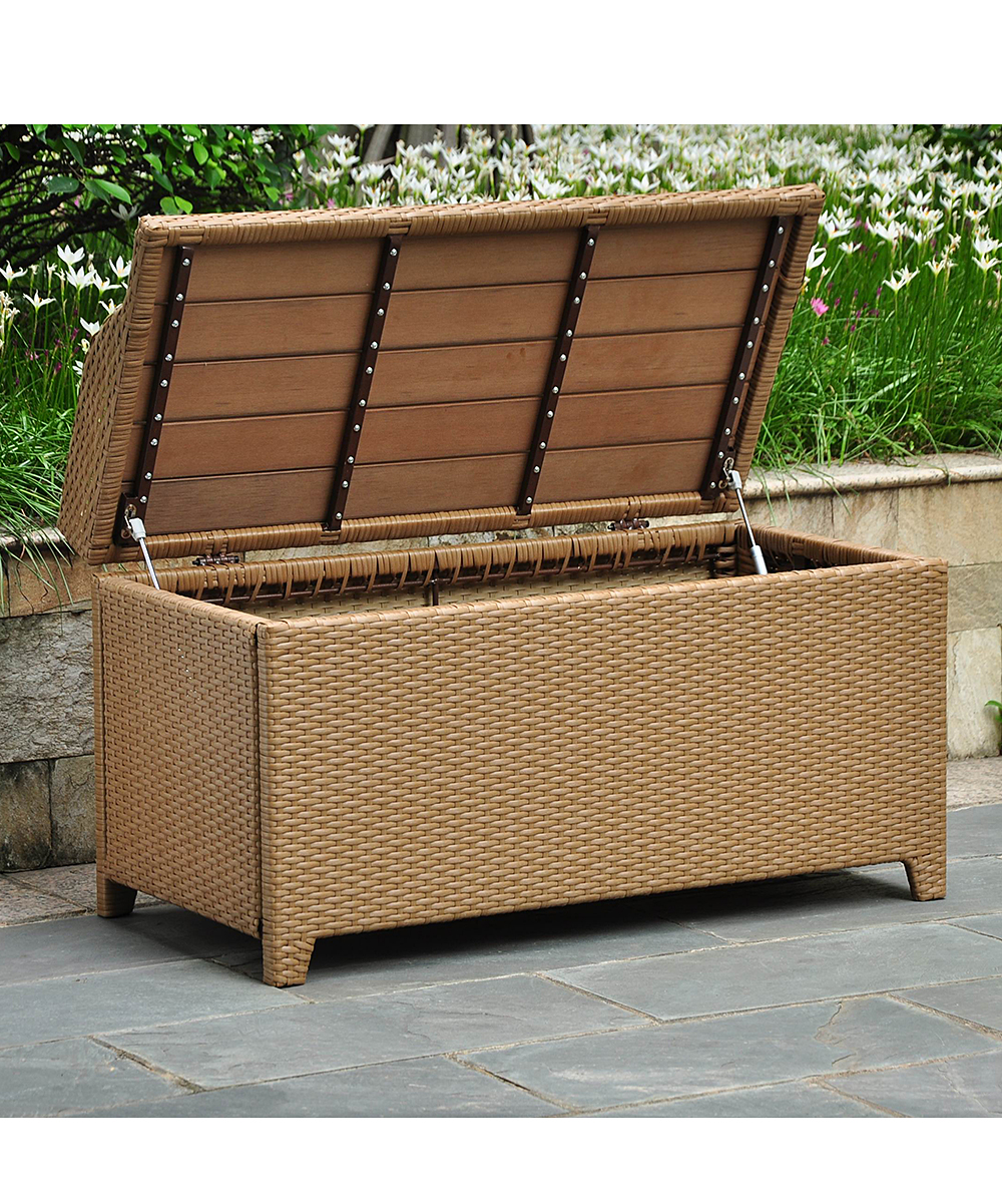 Caravan barcelona 40 patio storage bench zulily Deck storage bench