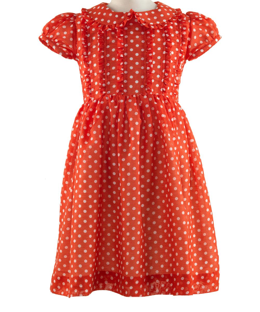 Rachel riley red polka dot frill dress toddler amp girls zulily