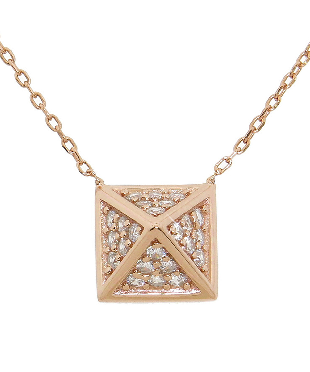 cubic zirconia gold pyramid pendant necklace zulily