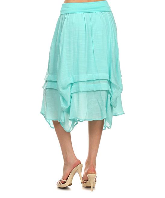 j mode usa los angeles mint gathered midi skirt zulily