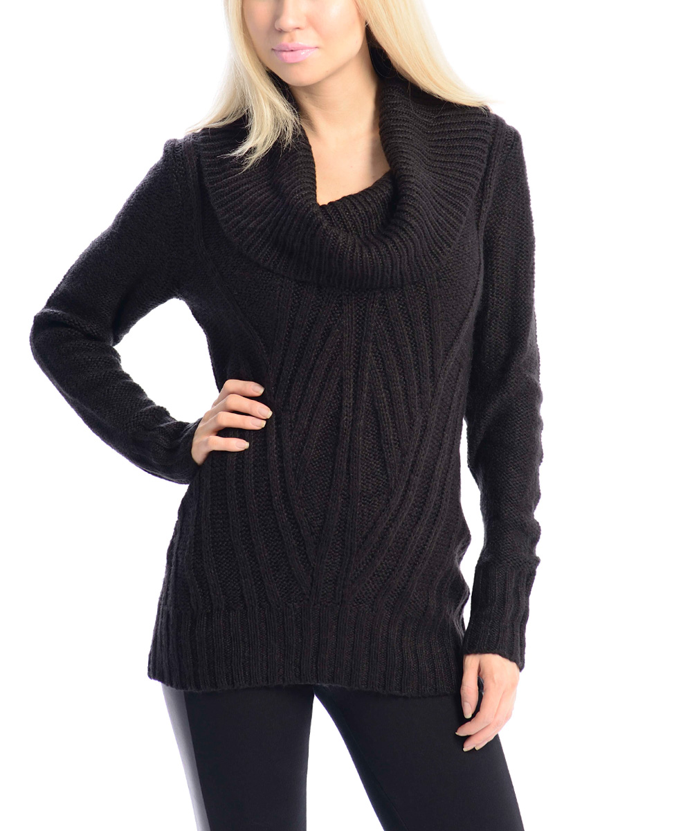 Black Cowl Neck Sweater | zulily