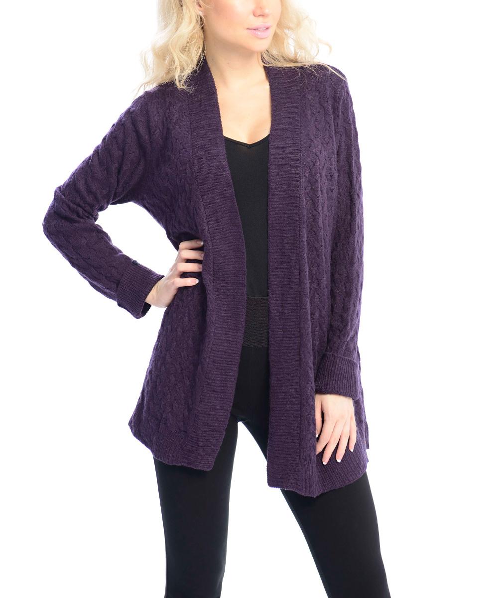 Purple Wool Cardigan - English Sweater Vest