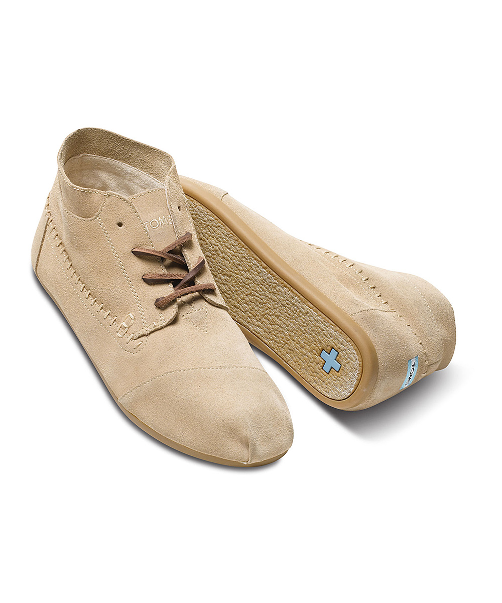 toms sand suede moccasin boot zulily