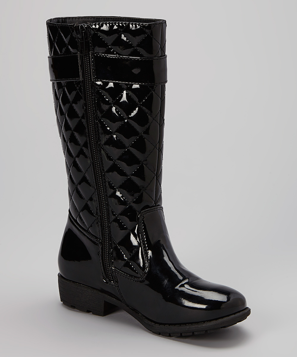 shoes of soul black patent quilted boot zulily