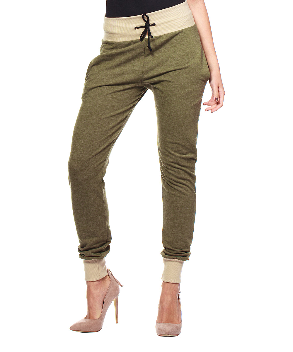 Popular Original Item Womens Printed Joggers Zipper Pocket Skinny Drawstring
