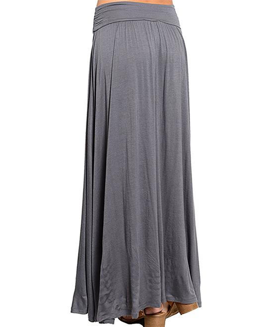 shop the trends gray maxi skirt zulily