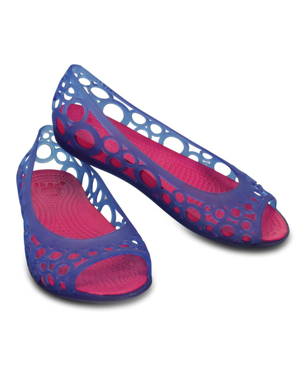 Crocs Cerulean Blue & Candy Pink Adrina Flat - Girls | zulily