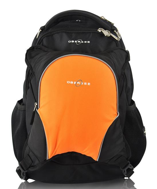 obersee black orange oslo diaper bag backpack set zulily. Black Bedroom Furniture Sets. Home Design Ideas