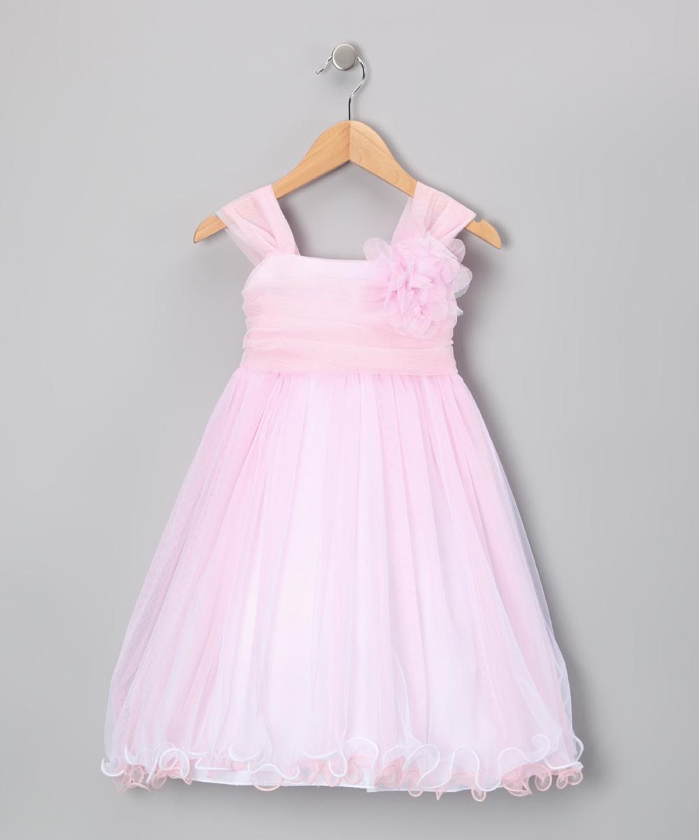 Kids Dream Pink Flower Chiffon Babydoll Dress - Toddler & Girls | zulily