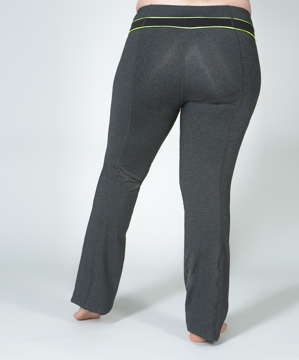 Lola getts gray amp neon green plus size yoga pants zulily