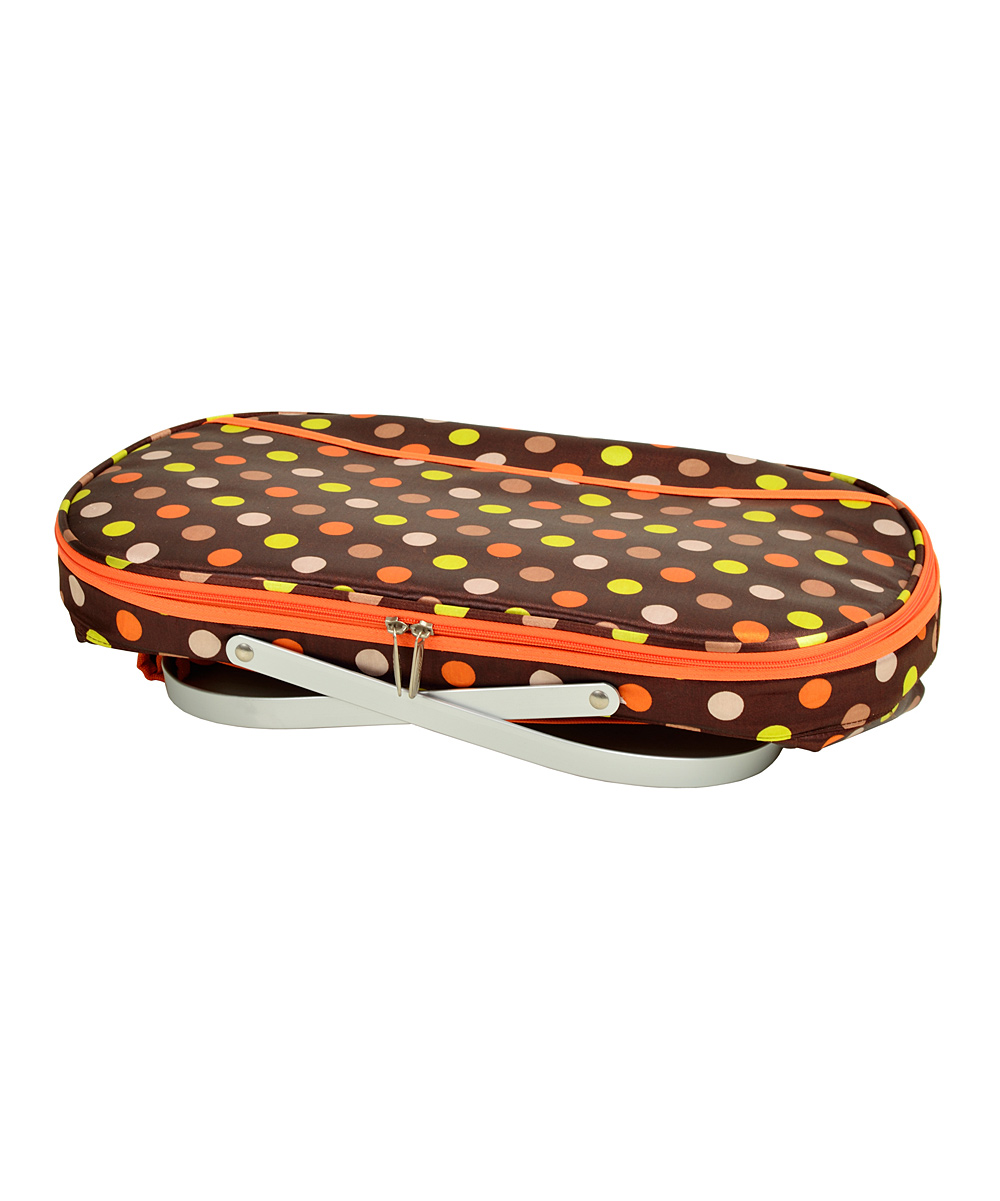 Picnic At Ascot Collapsible Insulated Picnic Basket For 4 : Picnic at ascot julia dot collapsible insulated
