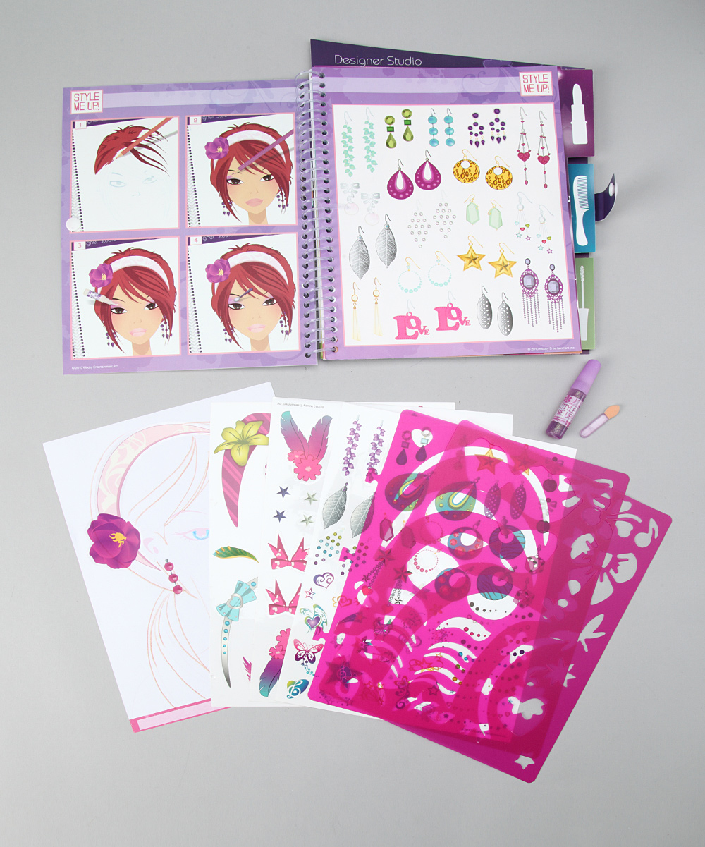 Style Me Up Hair Make Up Designer Studio Sketchbook Set Zulily