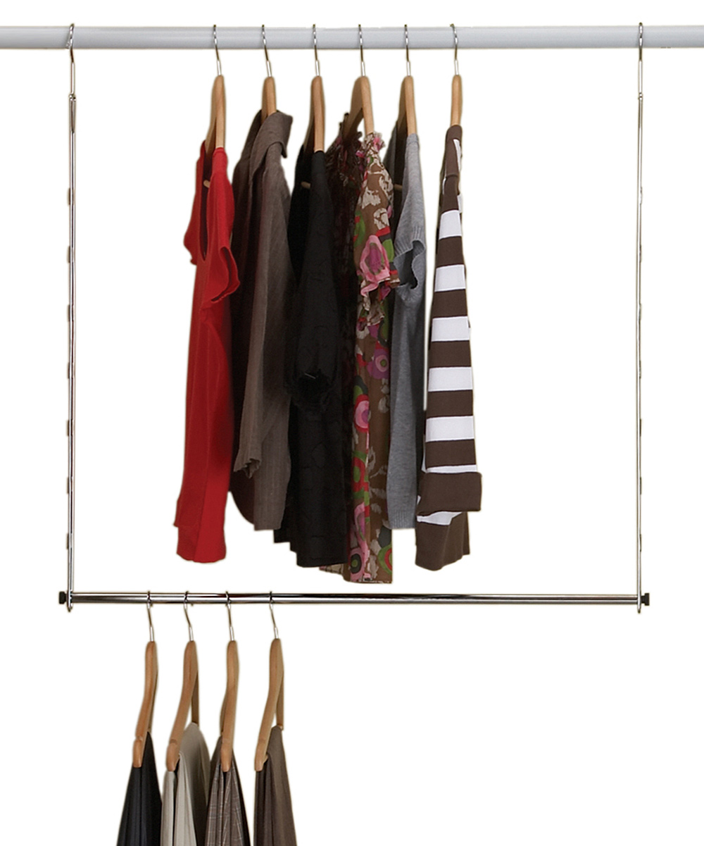 Homz Chrome Double Hang Closet Rod Zulily