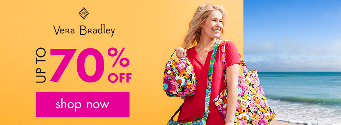 Vera Bradley up to 60% off! Shop now!