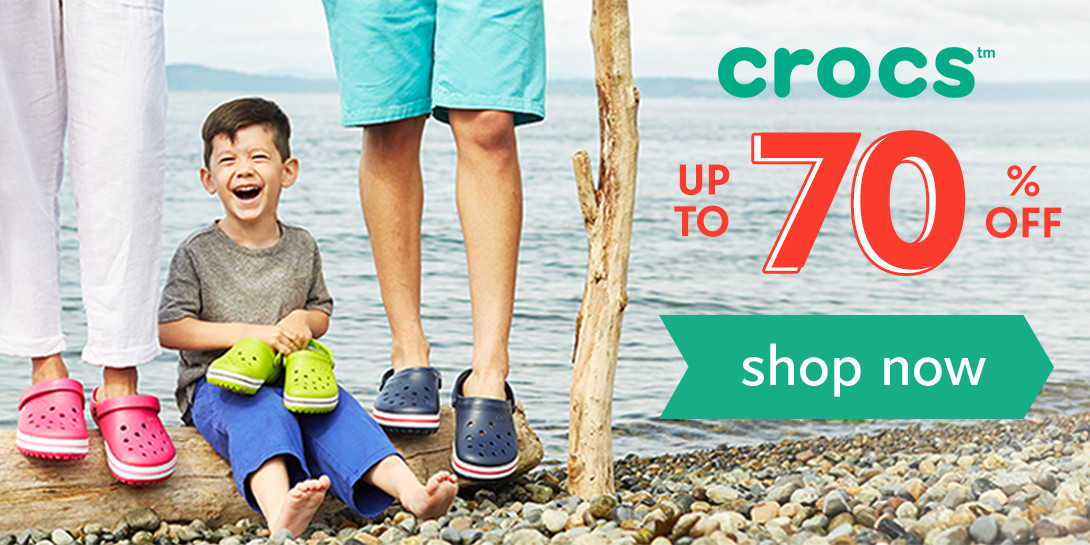 Crocs up to 70% off! Shop now!