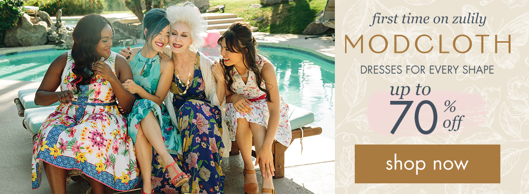 zulily debut: MODCLOTH! Up to 70% off!